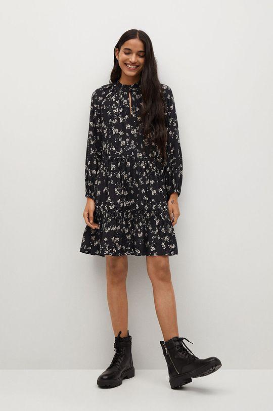 Mango - Sukienka Grass czarny