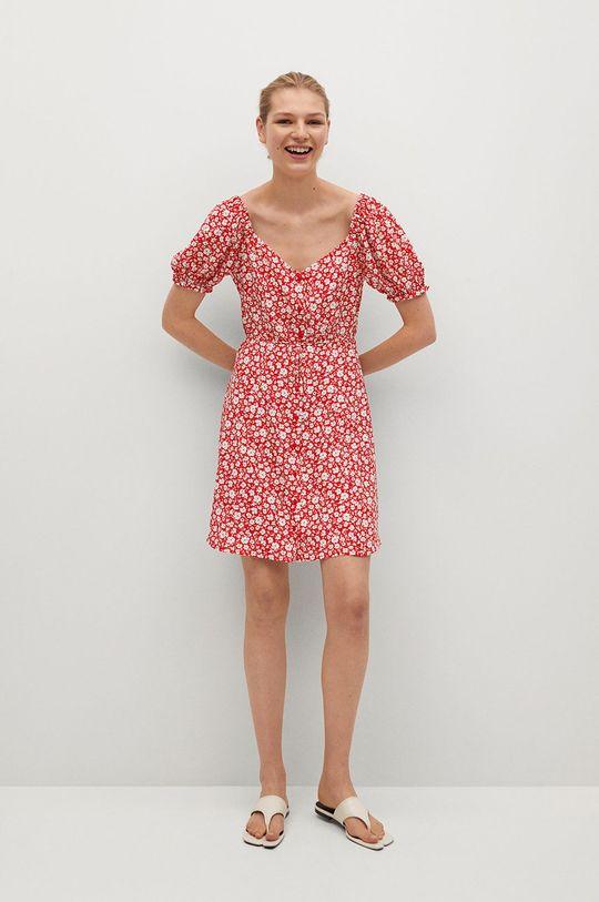 Mango - Sukienka Sere-L czerwony