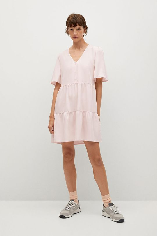 Mango - Šaty Rita-L ružová