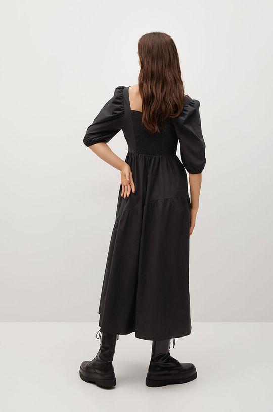 Mango - Šaty CRETA-L černá