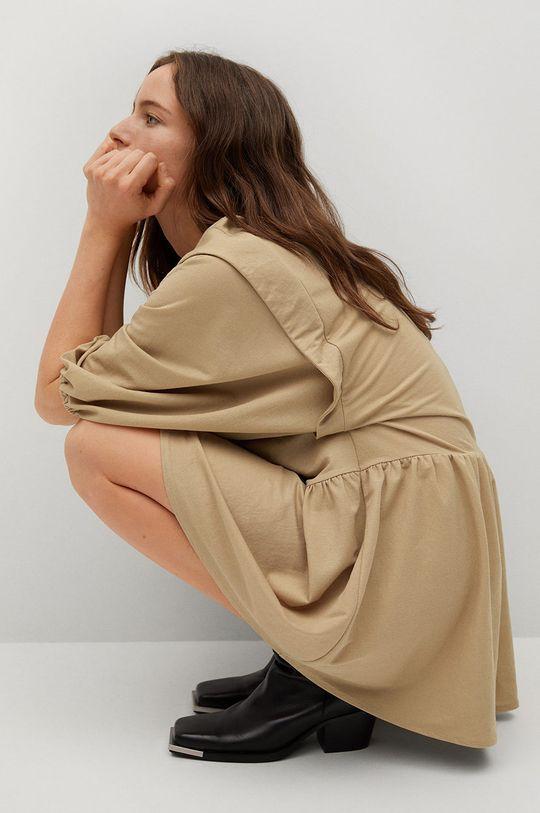 béžová Mango - Šaty RIMEL