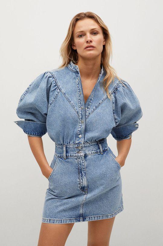 modrá Mango - Džínové šaty LOLA Dámský