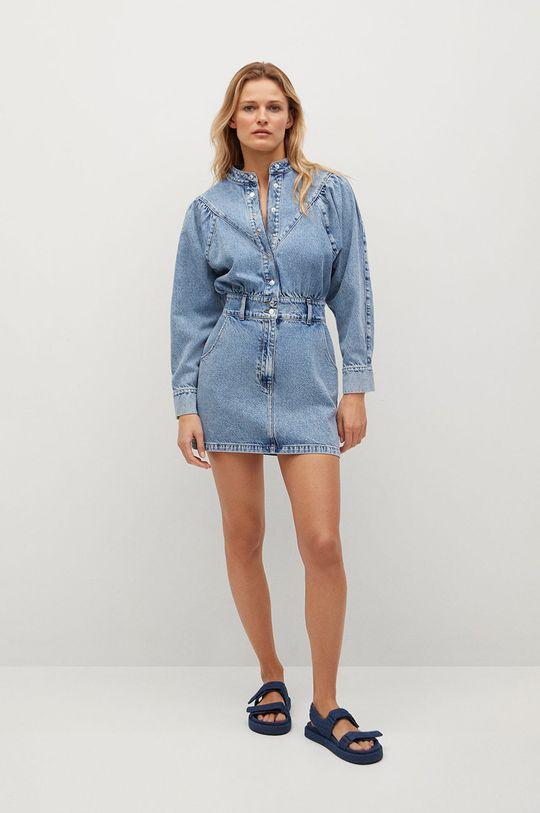 Mango - Džínové šaty LOLA modrá