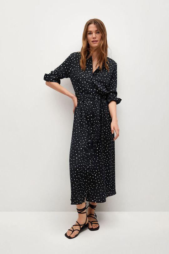 Mango - Šaty STAR černá