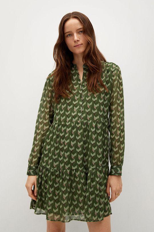 zelená Mango - Šaty VIENA Dámský