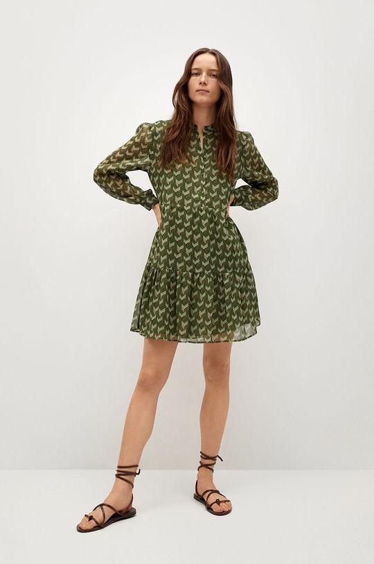 Mango - Šaty VIENA zelená