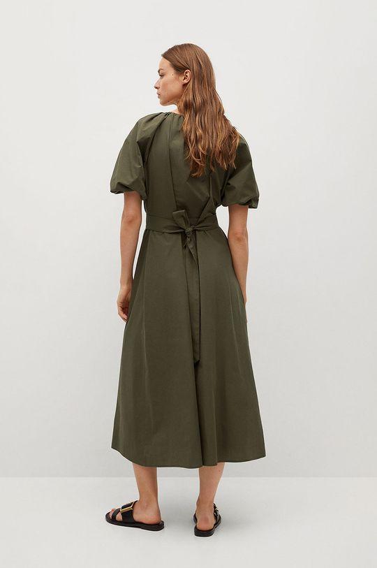 Mango - Sukienka OLIVA złoty brąz