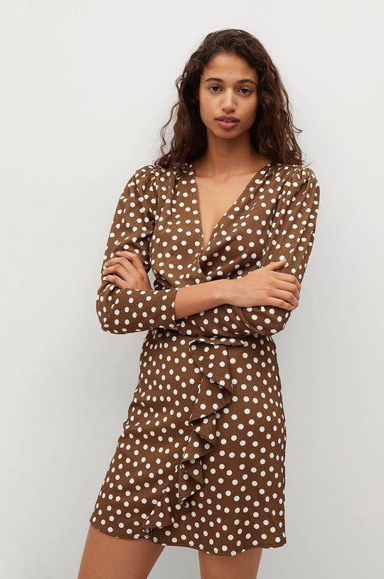 brązowy Mango - Sukienka REAL Damski
