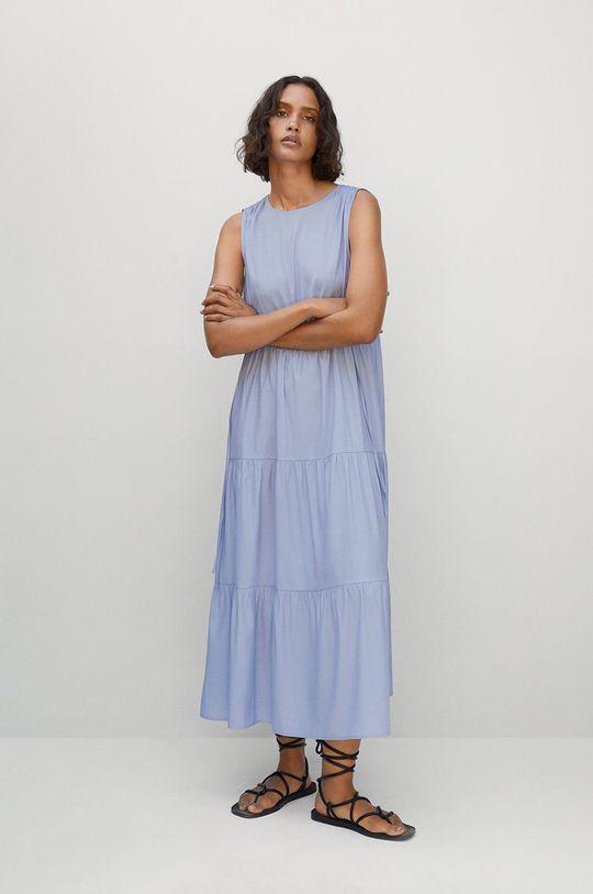 Mango - Šaty Abril světle modrá