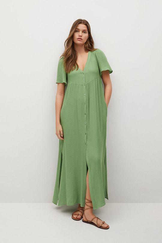 Mango - Sukienka Sugar zielony