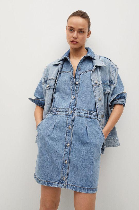 modrá Mango - Rifľové šaty Luna Dámsky