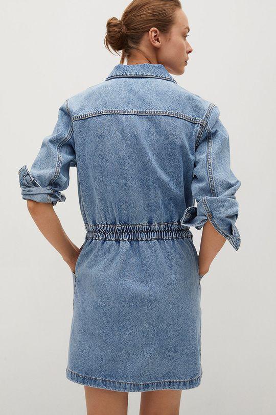 Mango - Rifľové šaty Luna  100% Bavlna