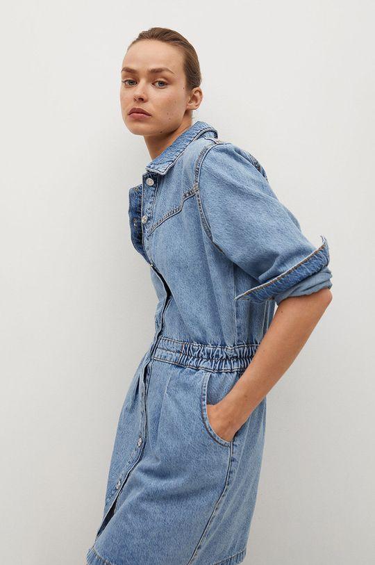 modrá Mango - Rifľové šaty Luna