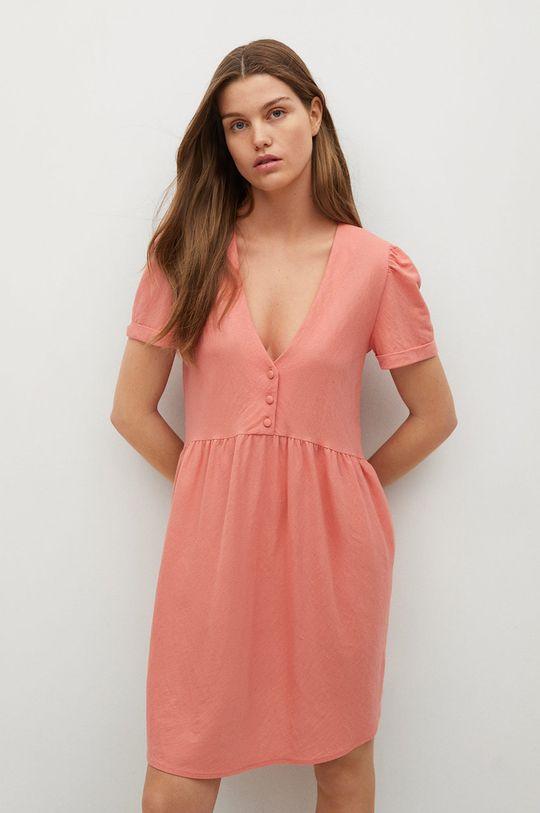 pastelowy różowy Mango - Sukienka Thalia8 Damski