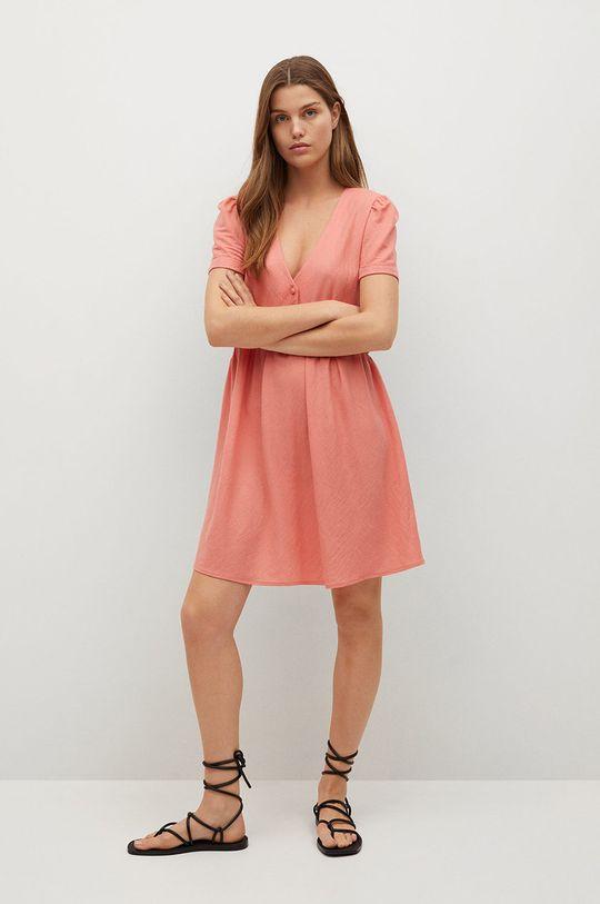 Mango - Sukienka Thalia8 pastelowy różowy