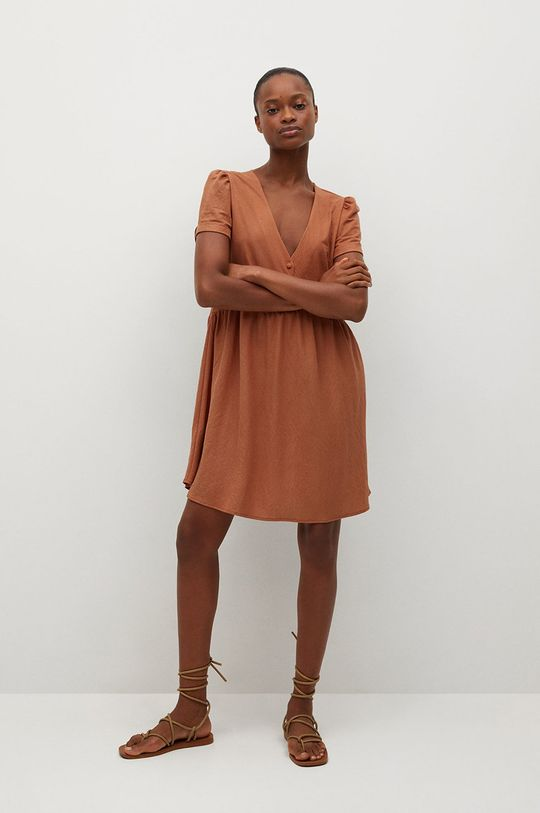 Mango - Rochie Thalia8 portocaliu