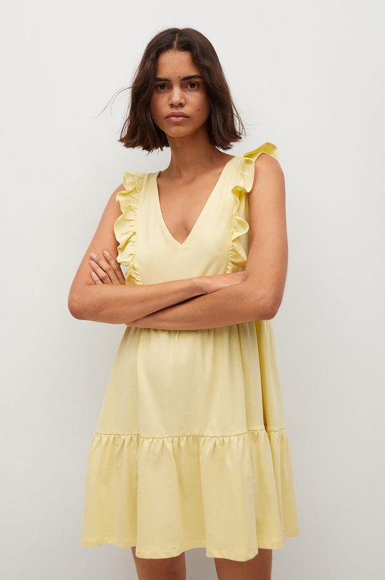 žltá Mango - Šaty CARILE Dámsky