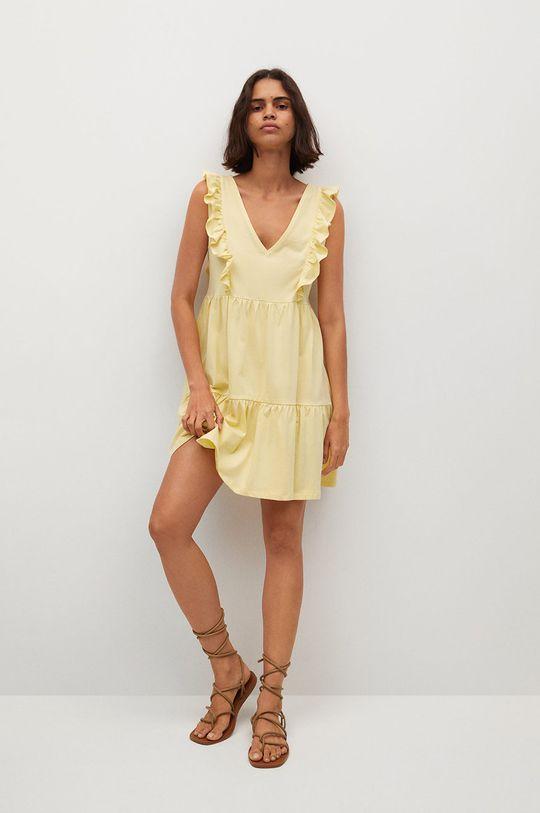 Mango - Šaty CARILE žltá