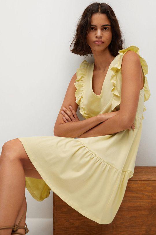 žltá Mango - Šaty CARILE