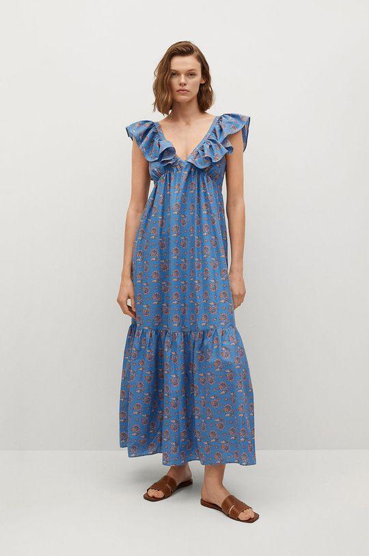 niebieski Mango - Sukienka Sunny Damski