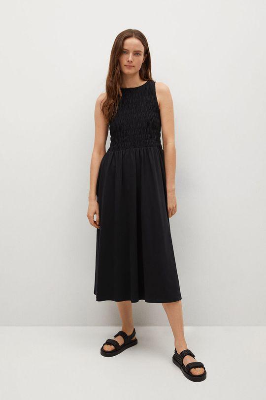 czarny Mango - Sukienka SANDI Damski