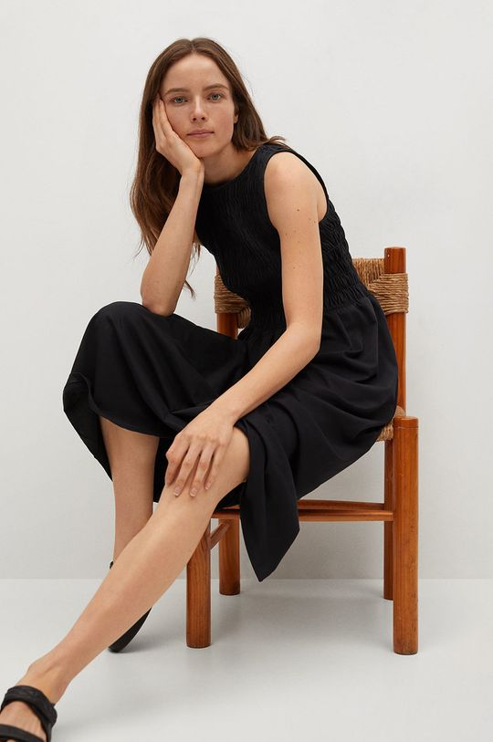Mango - Sukienka SANDI czarny