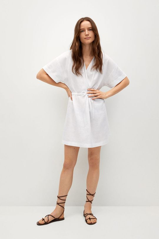 biały Mango - Sukienka Savana Damski