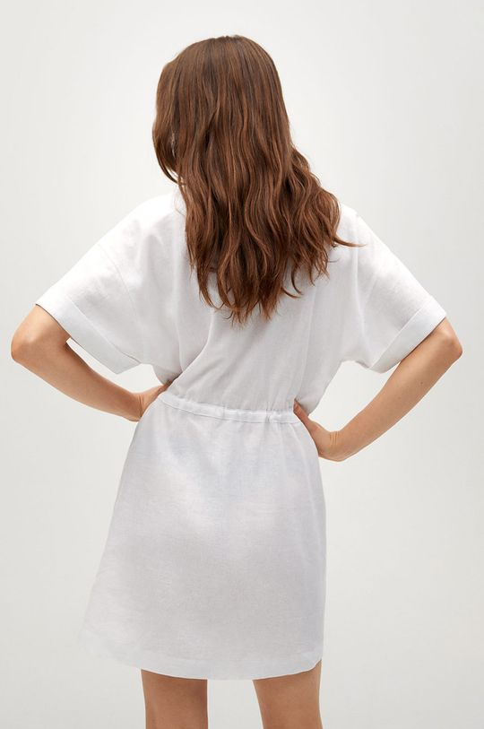 Mango - Sukienka Savana 45 % Bawełna, 55 % Len