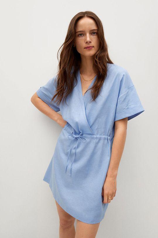 modrá Mango - Šaty Savana Dámsky