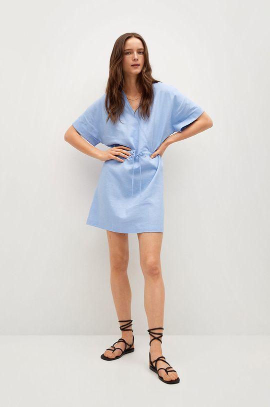 Mango - Šaty Savana modrá
