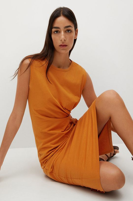 pomarańczowy Mango - Sukienka Ferti Damski