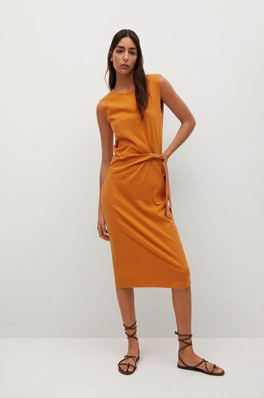 Mango - Sukienka Ferti pomarańczowy