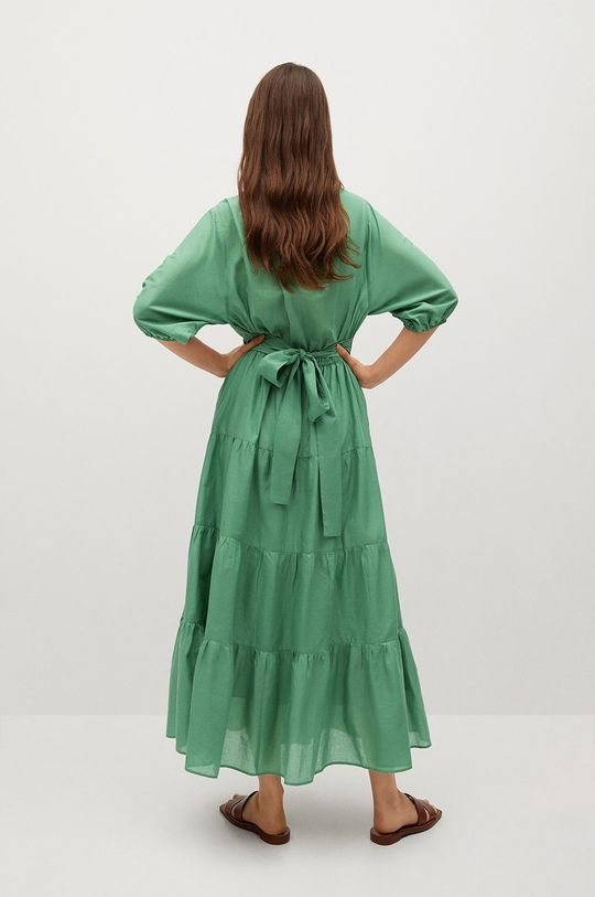 Mango - Šaty Dust zelená