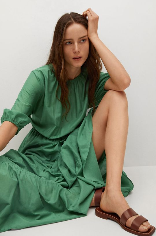 zelená Mango - Šaty Dust