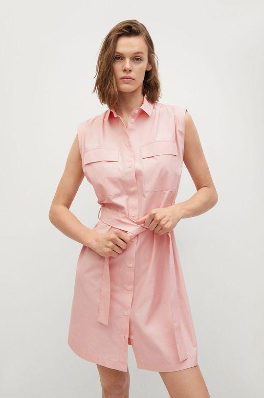 pastelowy różowy Mango - Sukienka Rita Damski