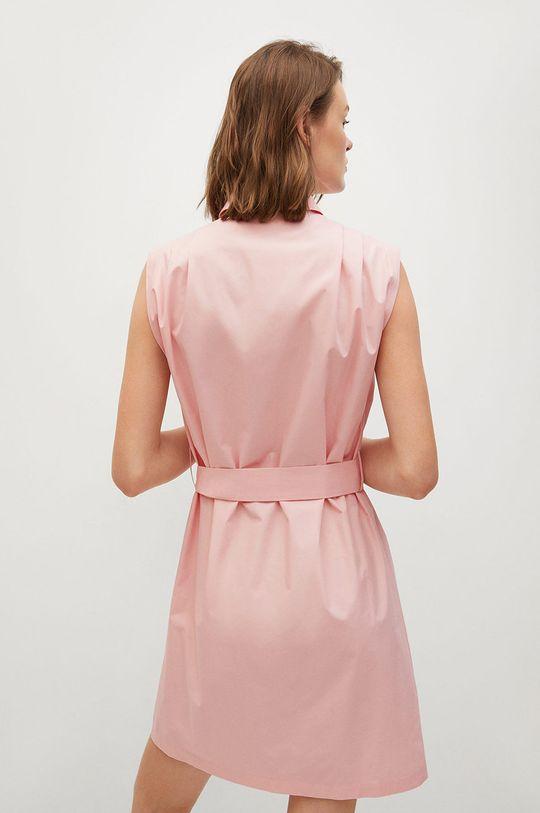 Mango - Sukienka Rita pastelowy różowy
