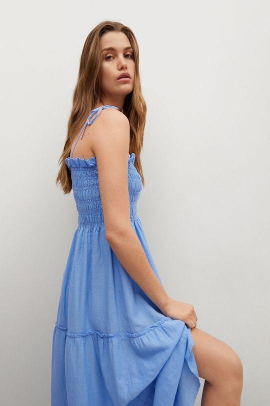 modrá Mango - Šaty CELIA