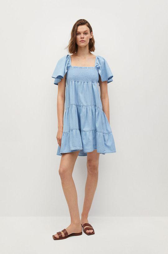 Mango - Sukienka DULIPA niebieski