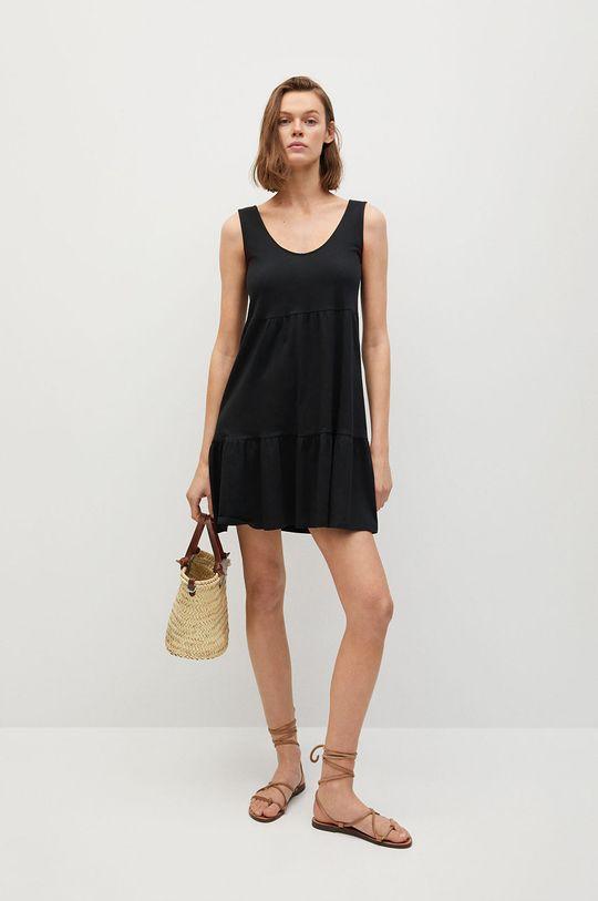 Mango - Šaty MAROTO čierna