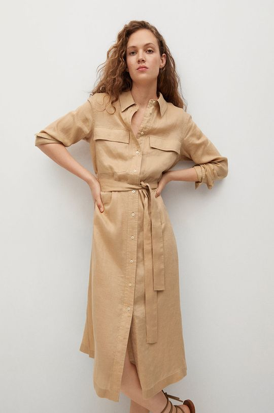 tělová Mango - Šaty ELEA Dámský