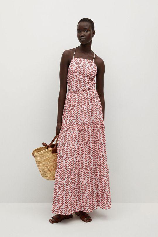 Mango - Sukienka SERENITY Podszewka: 100 % Bawełna, Materiał zasadniczy: 100 % Bawełna, Haft: 100 % Poliester