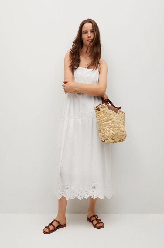Mango - Sukienka CECI biały