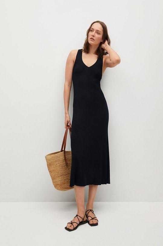 czarny Mango - Sukienka SUAU Damski