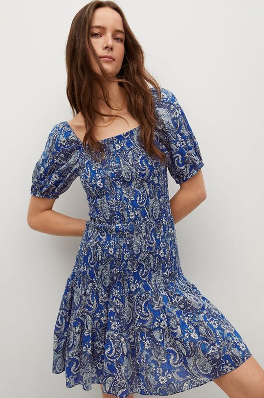 modrá Mango - Šaty CRUISE Dámsky