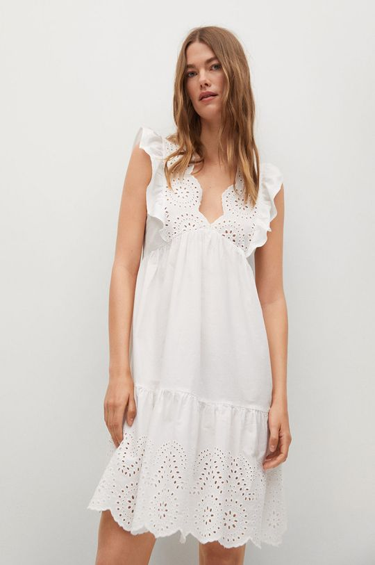 biały Mango - Sukienka ANGELO Damski