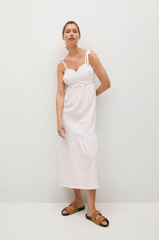 biały Mango - Sukienka INES Damski