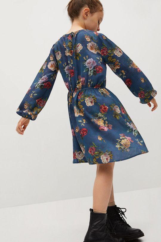 Mango Kids - Dívčí šaty ROSAS modrá