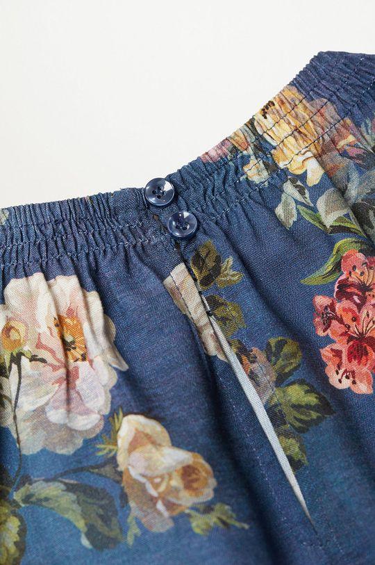 modrá Mango Kids - Dívčí šaty ROSAS