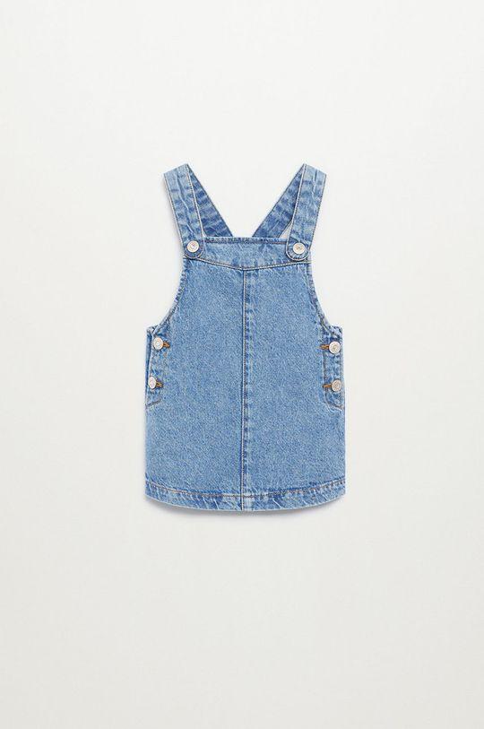 niebieski Mango Kids - Sukienka dziecięca ELVA Dziewczęcy