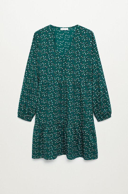 zielony Mango Kids - Sukienka dziecięca BELLES Dziewczęcy